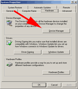 device manager button
